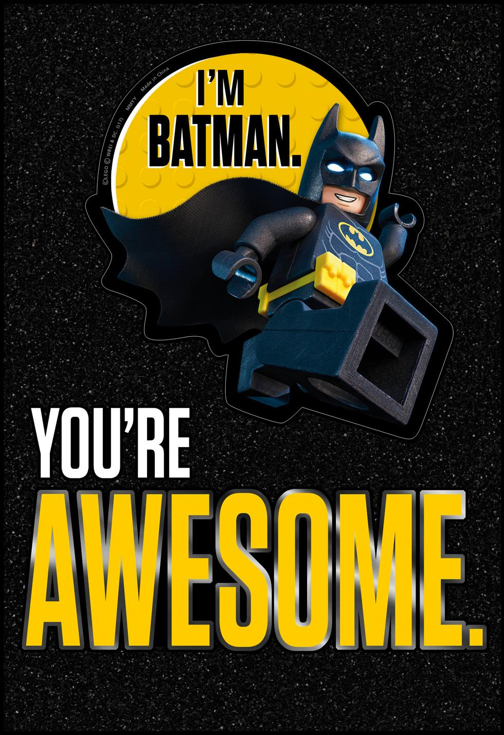 the lego u00ae batman movie u2122 awesome birthday card with sticker