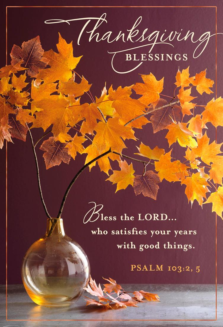 fall leaves religious thanksgiving cards  pack of 6