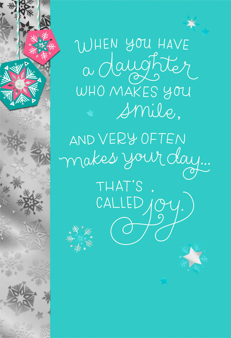 That S Called Love Christmas Card For Daughter Greeting