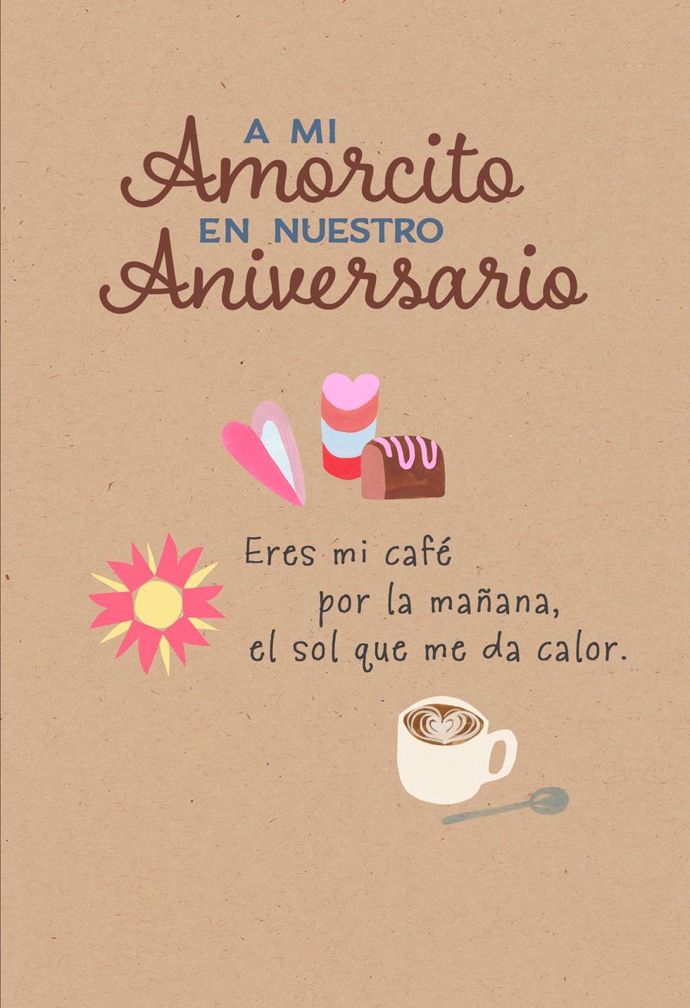 My everything spanish language anniversary card greeting