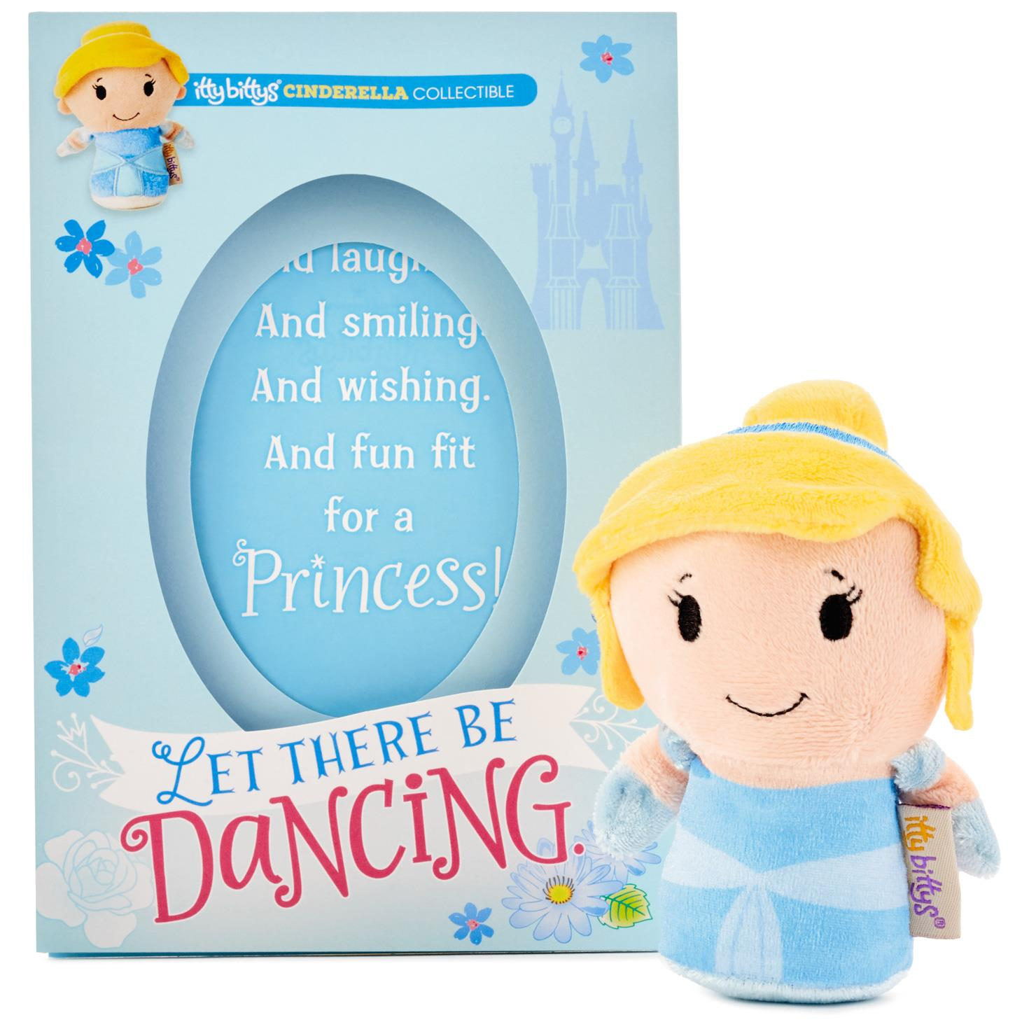 itty bittys Cinderella Birthday Card With Stuffed Animal