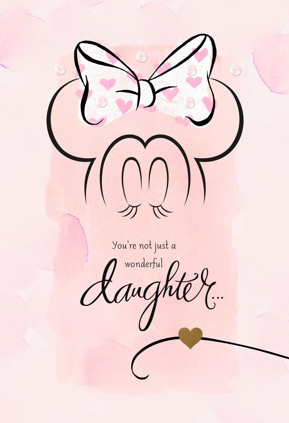 Minnie Mouse Valentines Card for Daughter  Greeting Cards  Hallmark