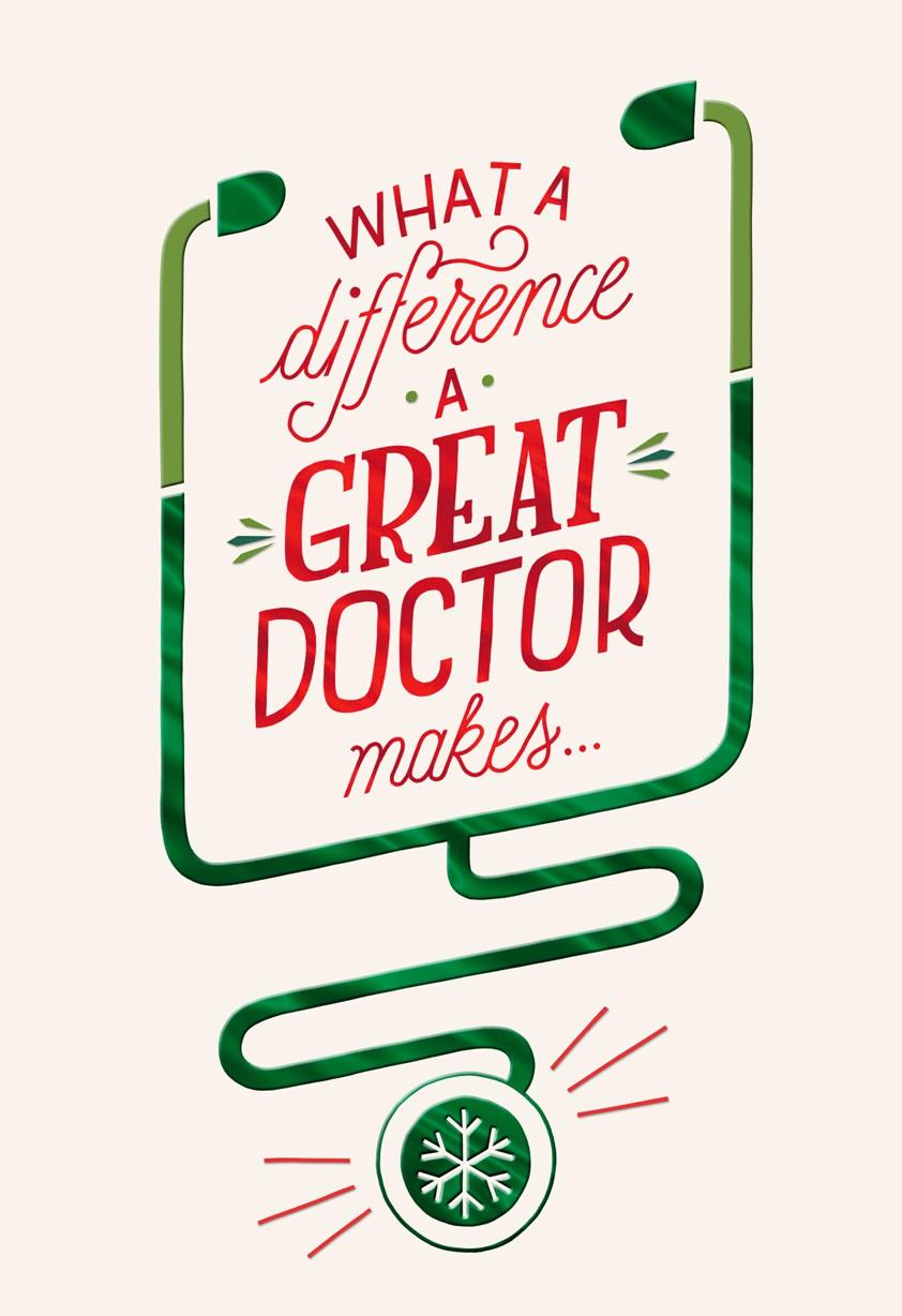 For A Great Doctor Christmas Card Greeting Cards Hallmark