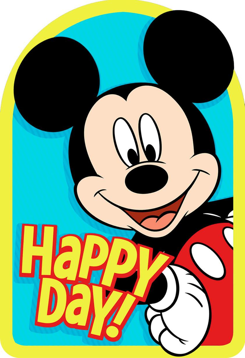 Mickey Mouse Best Day Ever Birthday Card