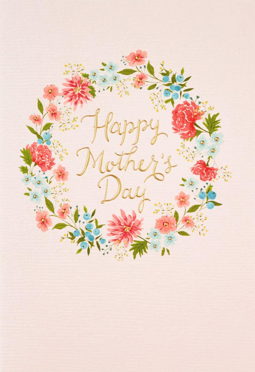 All kinds of beautiful flower wreath mothers day card greeting all kinds of beautiful flower wreath mothers day card izmirmasajfo