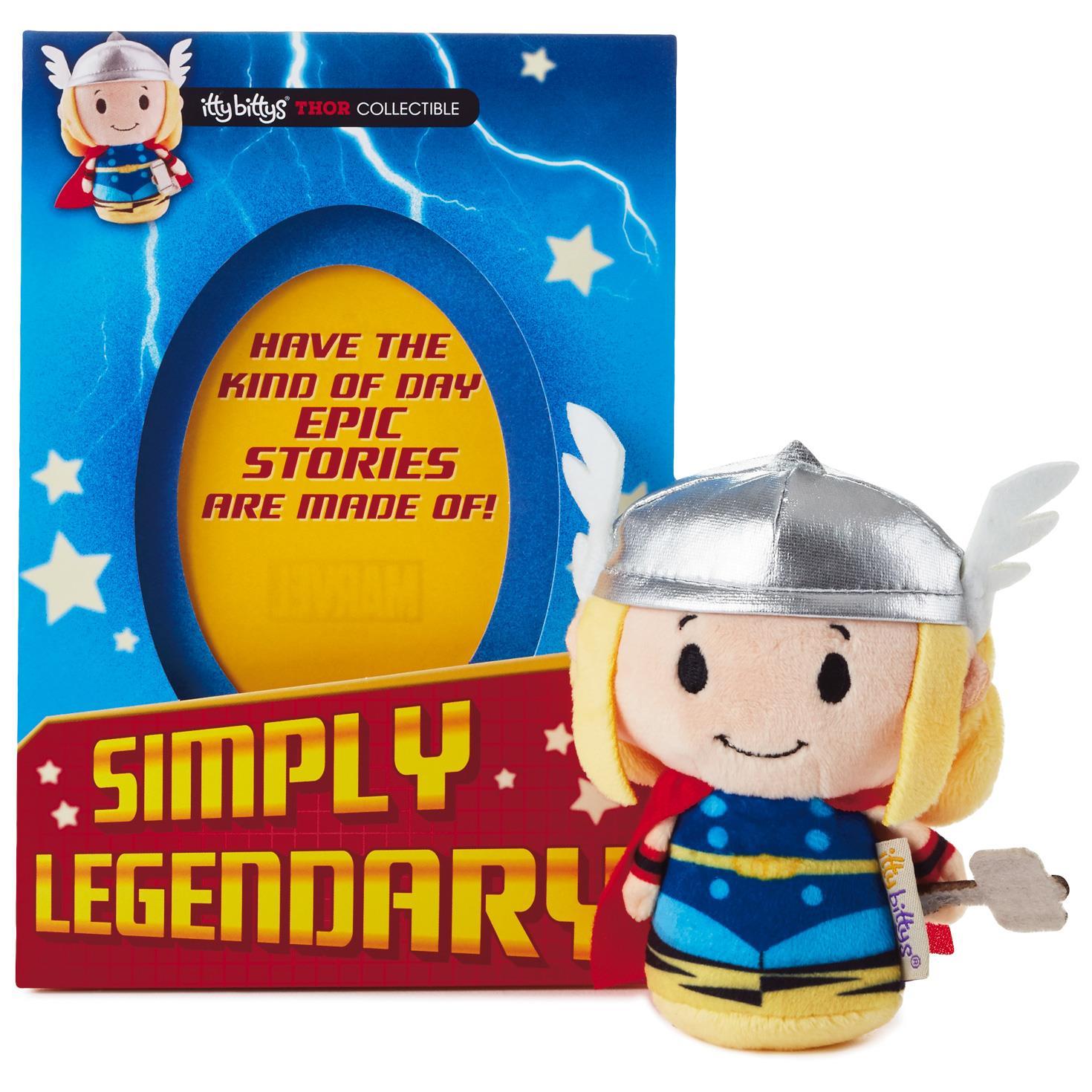 itty bittys Thor Birthday Card With Stuffed Animal Greeting