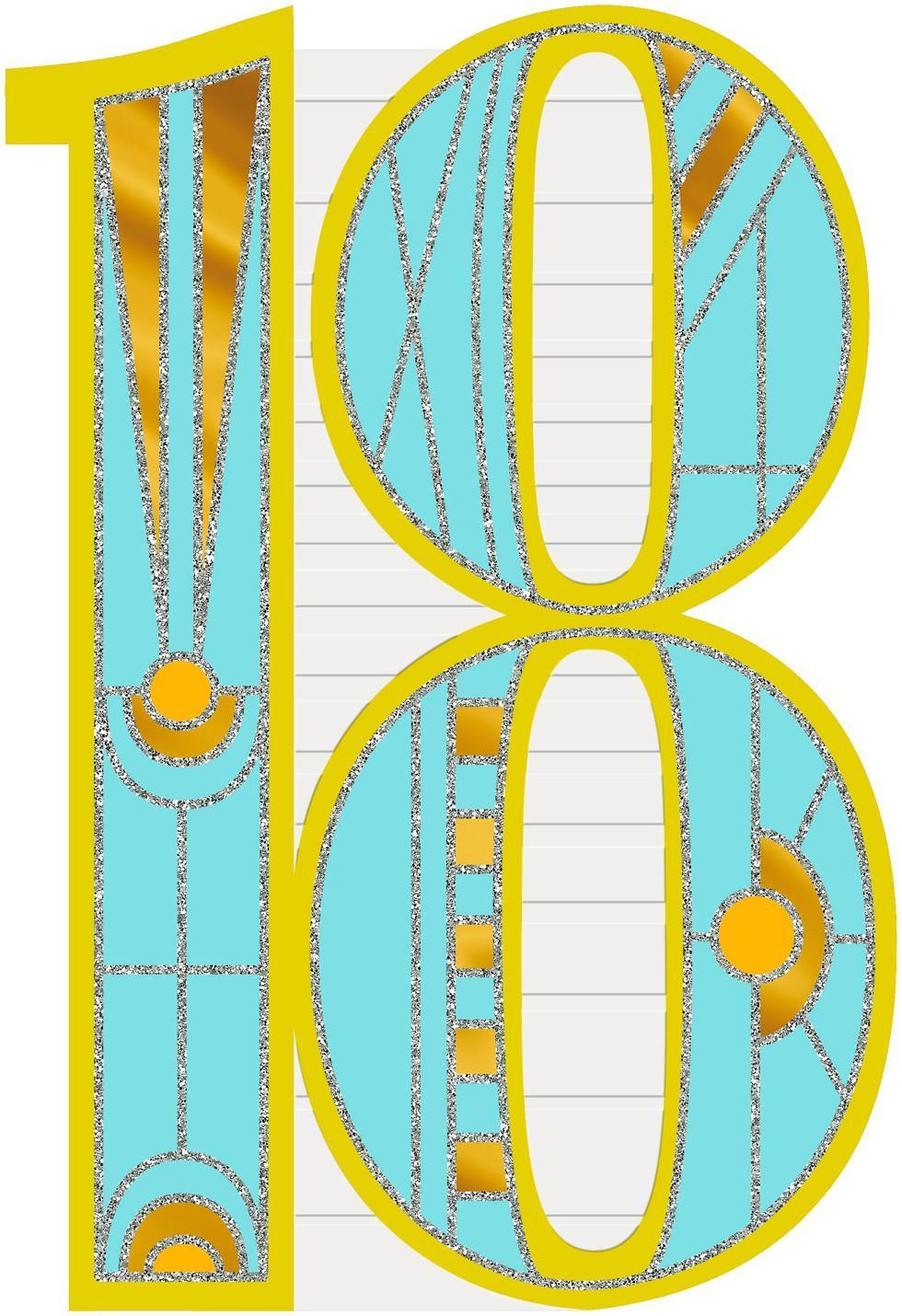 Art Deco 18th Birthday Card Greeting Cards Hallmark – 18th Birthday Cards