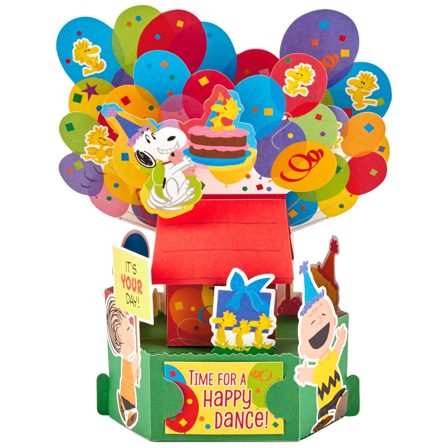 Peanuts® Happy Dance Pop Up Birthday Card