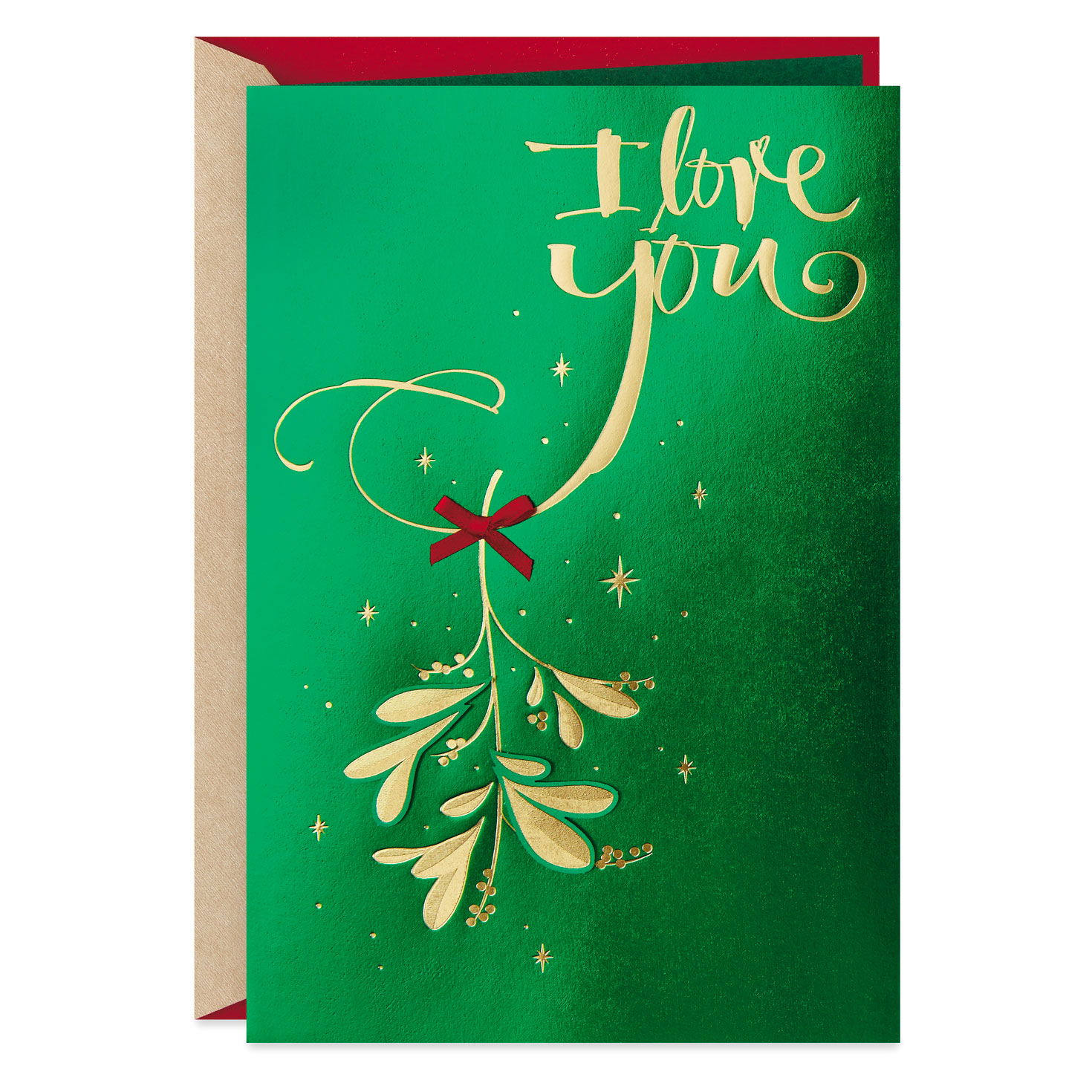 Mistletoe Love Christmas Card For Husband