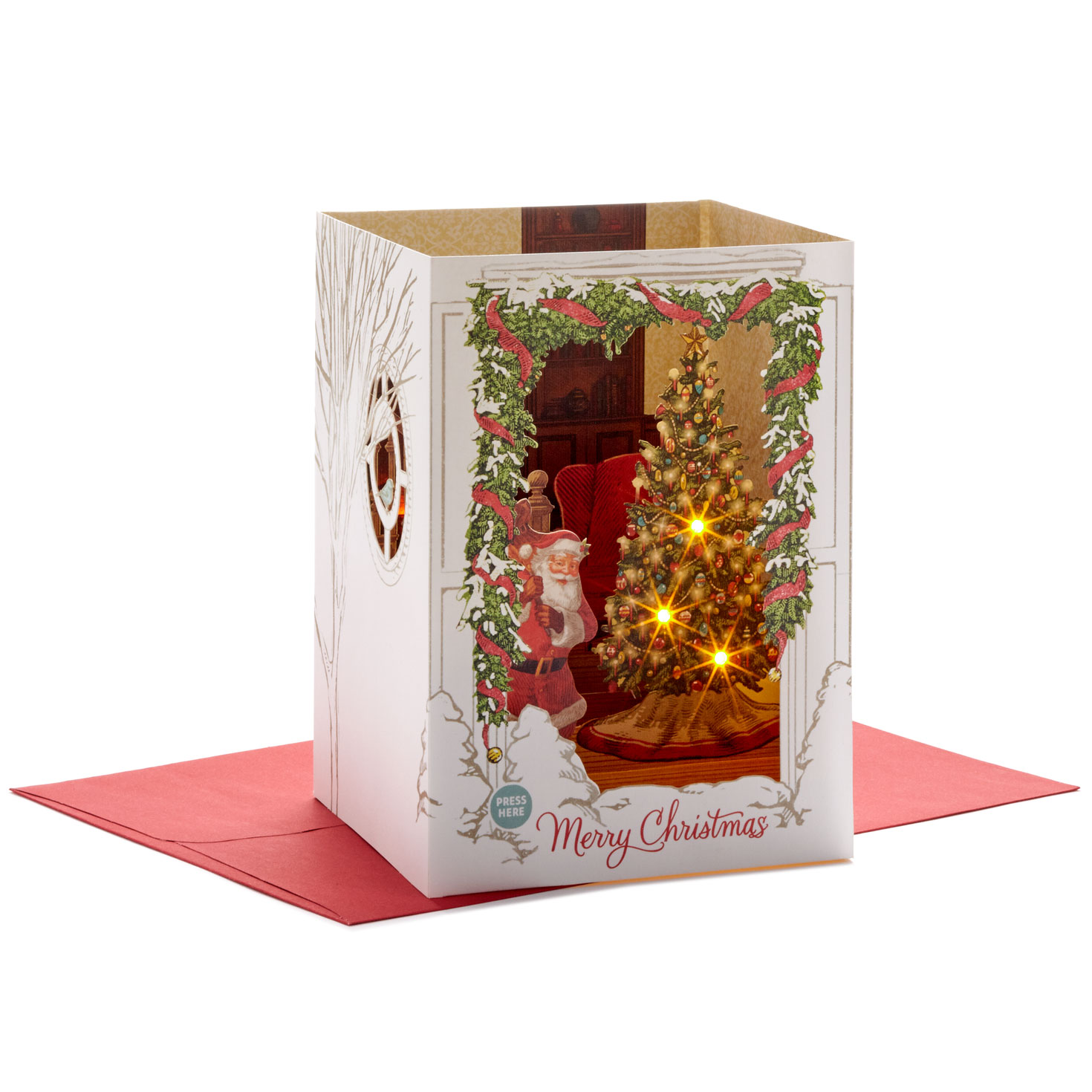Spirit Of Christmas Musical 3D Pop-Up Christmas Card With