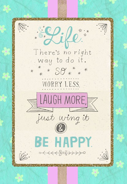 Laugh More Friendship Birthday Card Greeting Cards