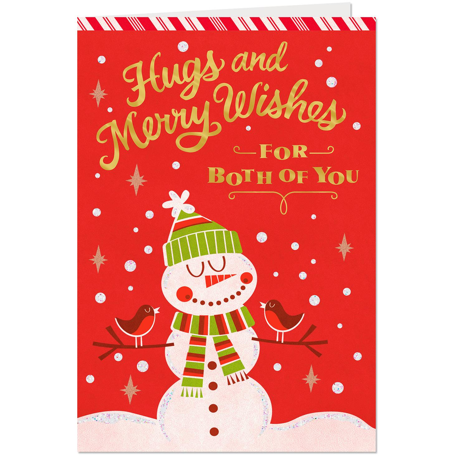 Merry Wishes Christmas Card For Both Greeting Cards Hallmark