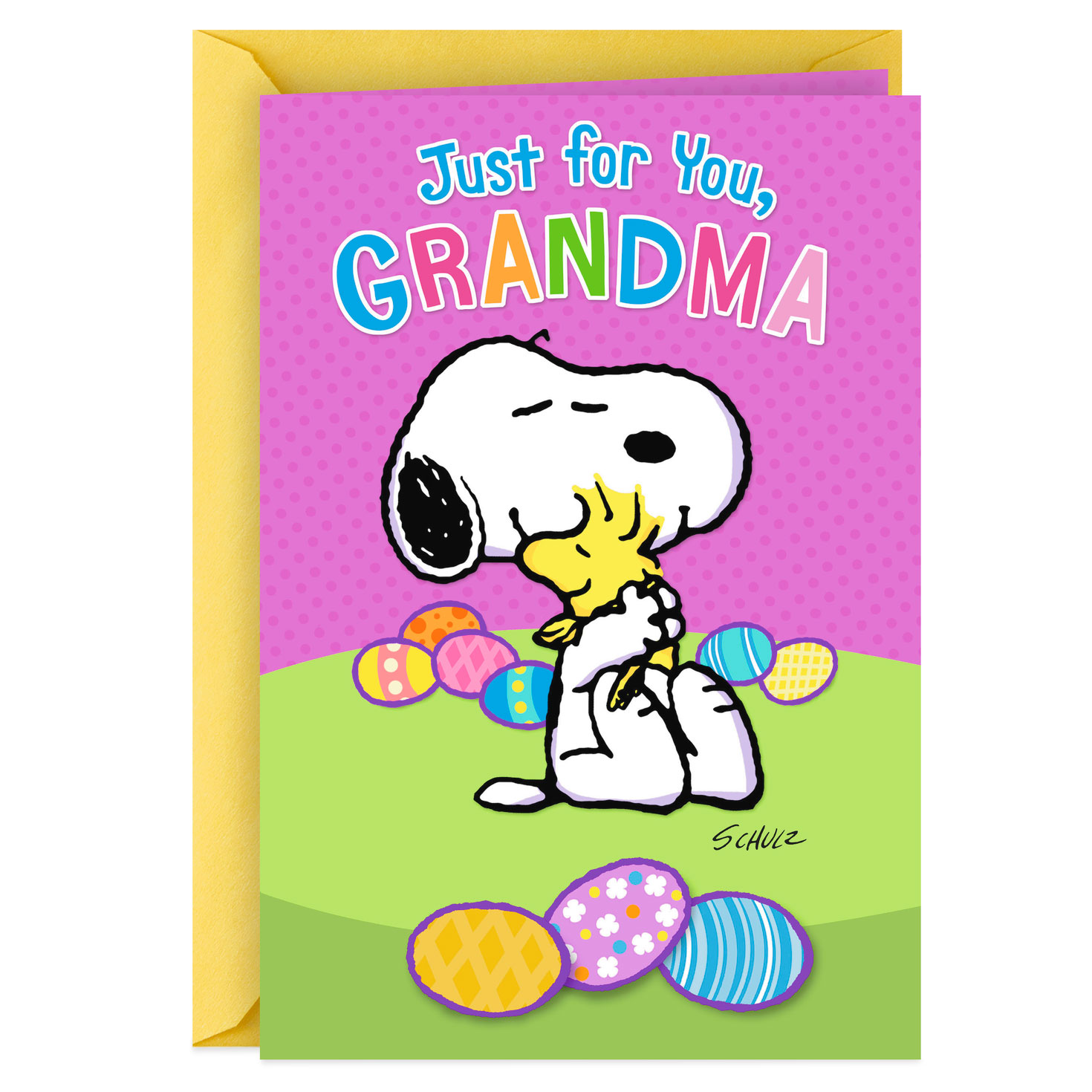 PEANUTS Snoopy Woodstock Hugging SCHULZ Religious Birthday Greeting Card