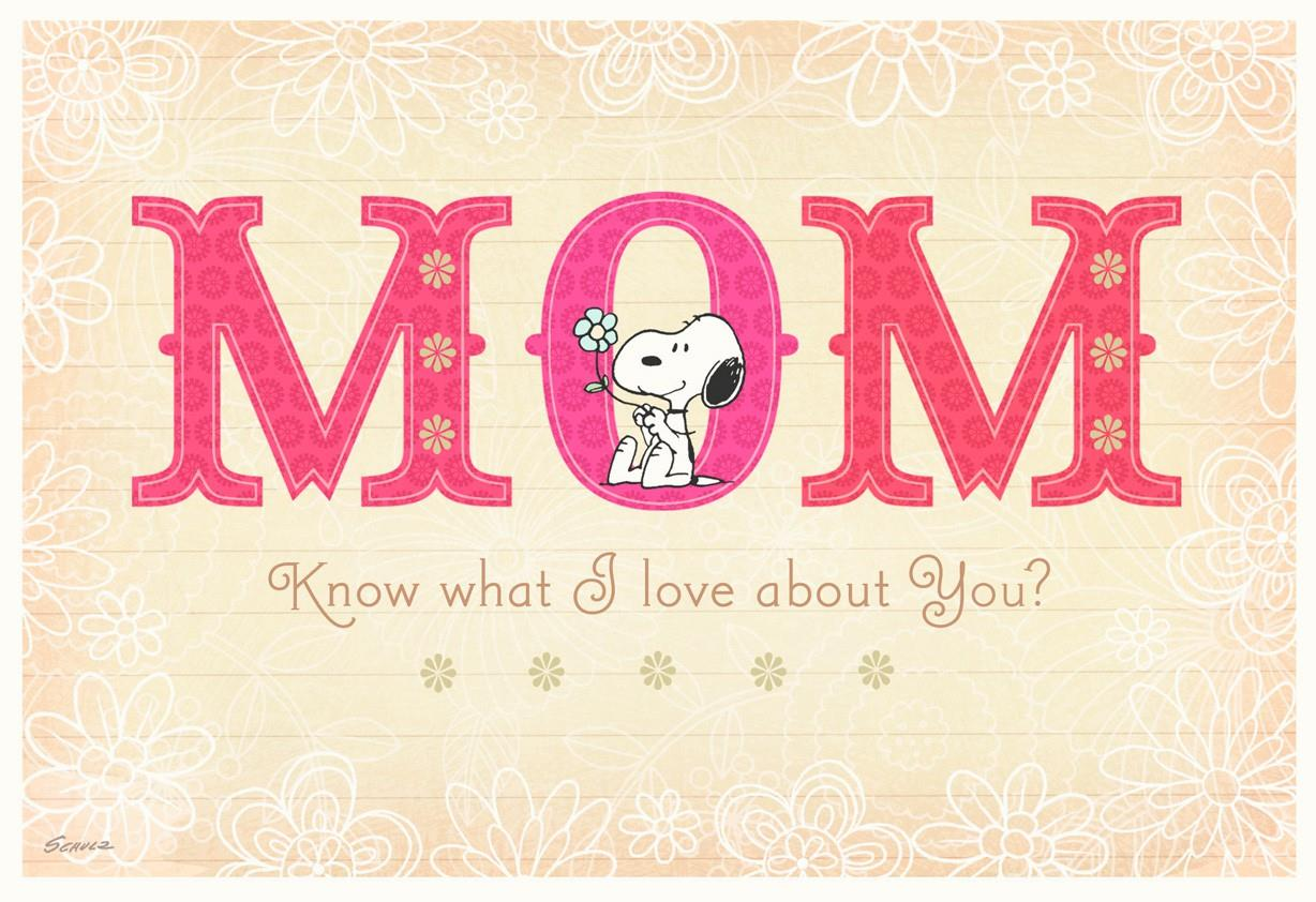 Peanuts® Snoopy Birthday Card for Mom - Greeting Cards ...
