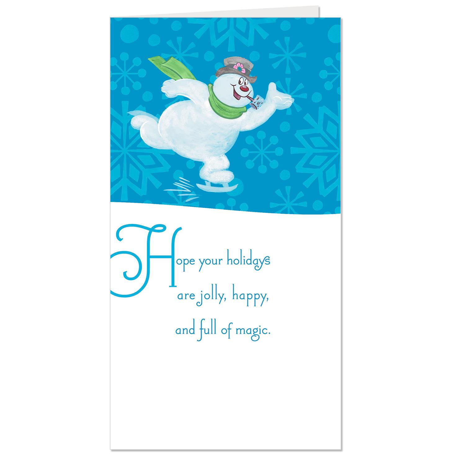 frosty the snowman full of magic money holder christmas card - Christmas Card Money Holder