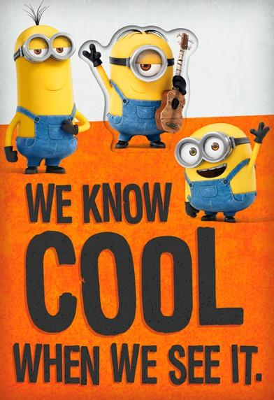Minions Cool Birthday Card With Temporary Tattoo