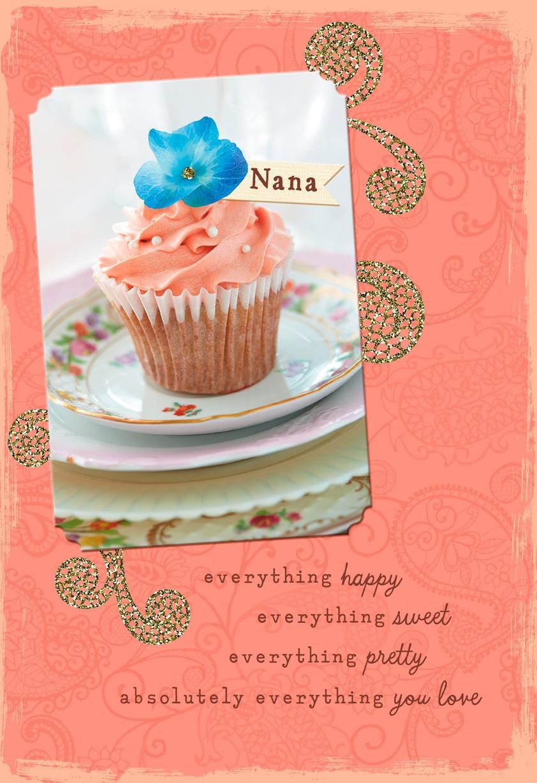 Cupcake Birthday Card for Nana Greeting Cards Hallmark – Cupcake Birthday Card