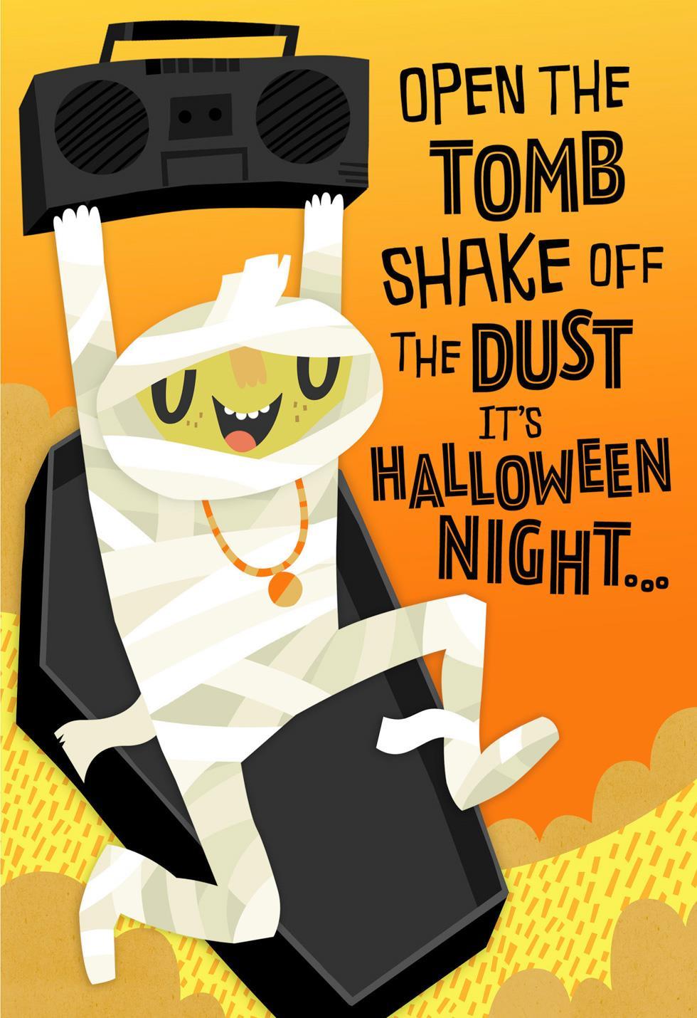 party mummy musical halloween card greeting cards hallmark