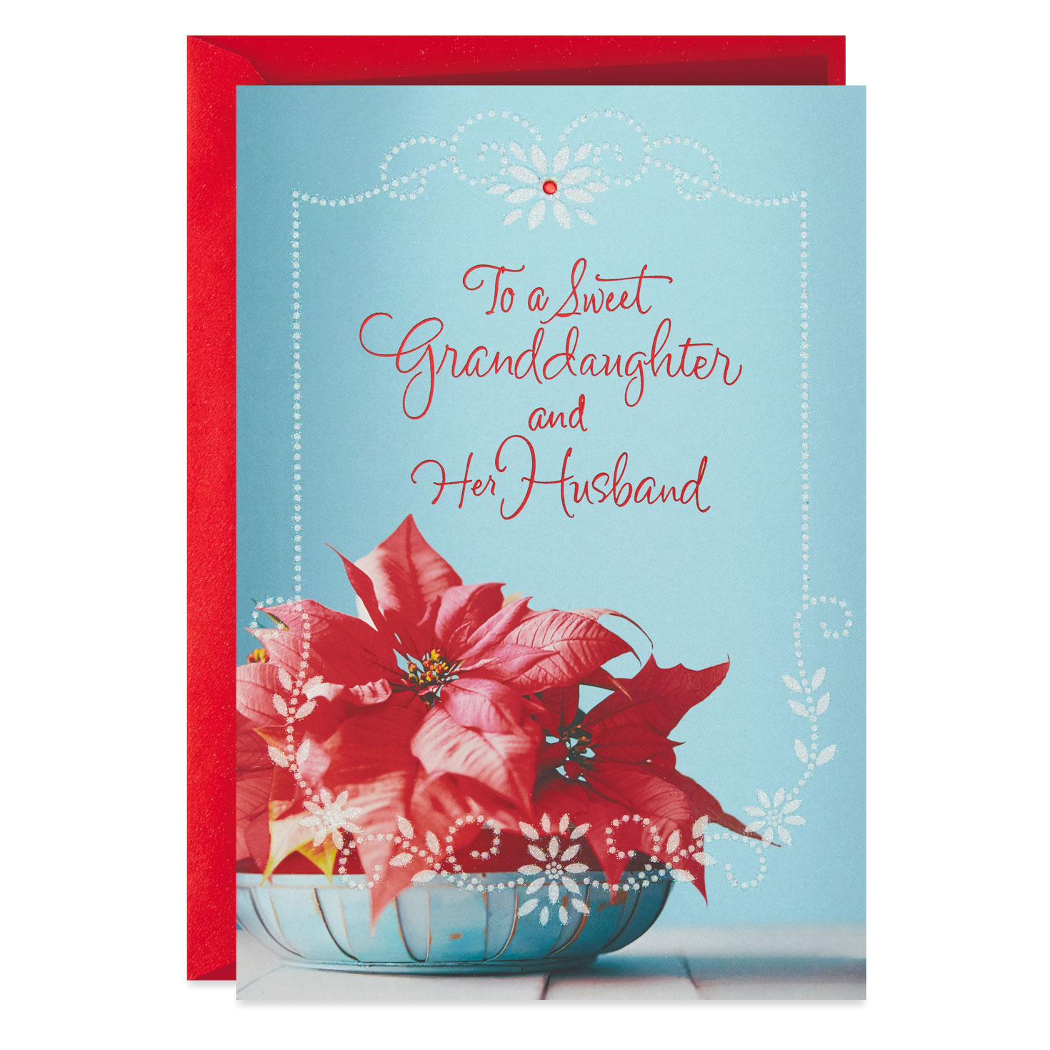 Poinsettias Christmas Card For Granddaughter And Her