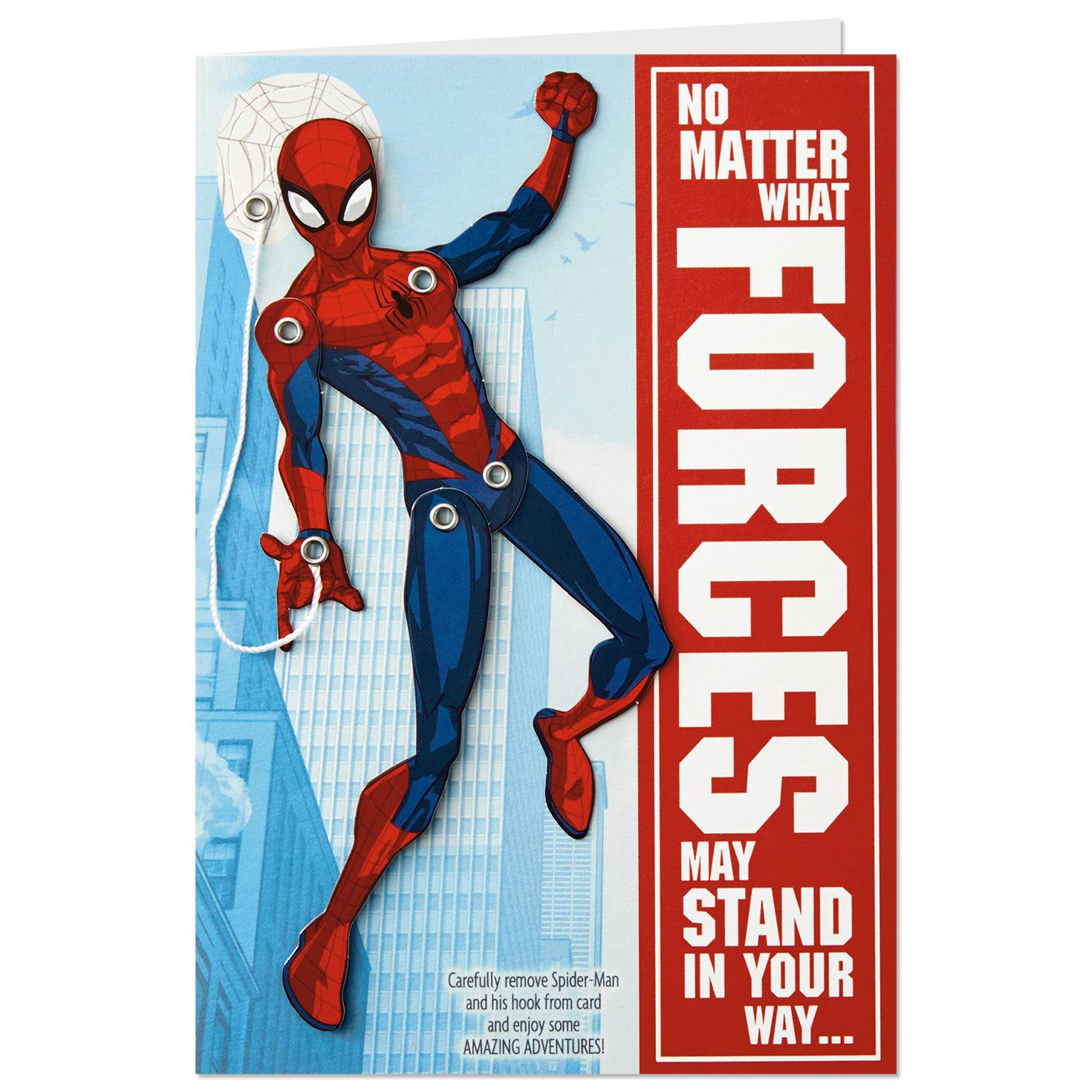 Spider man birthday card with removable attachment greeting cards spider man birthday card with removable attachment altavistaventures Gallery