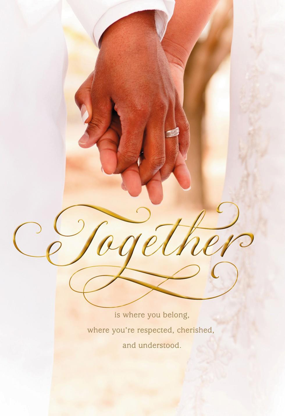 Together Forever Wedding Congratulations Card Greeting