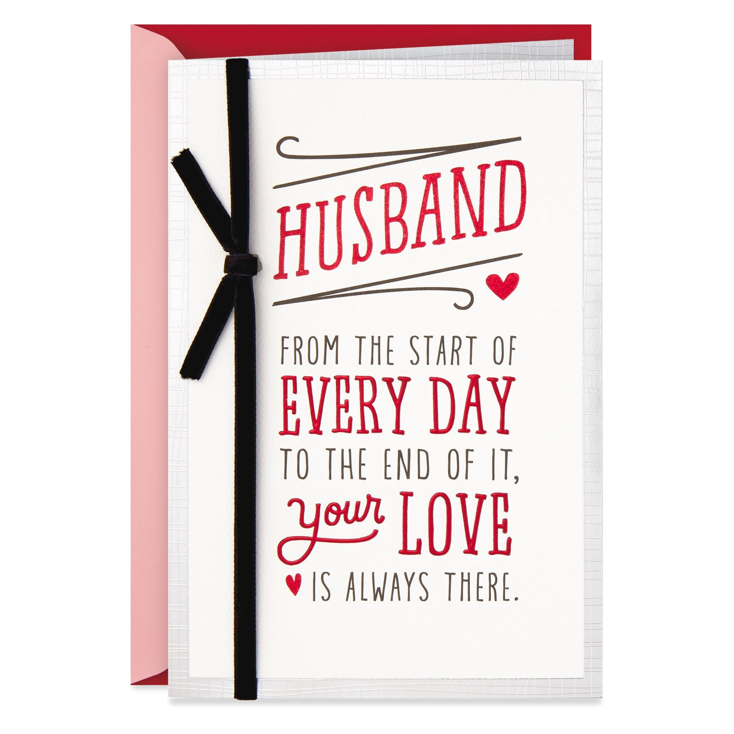 husband your love is always there valentine's day card