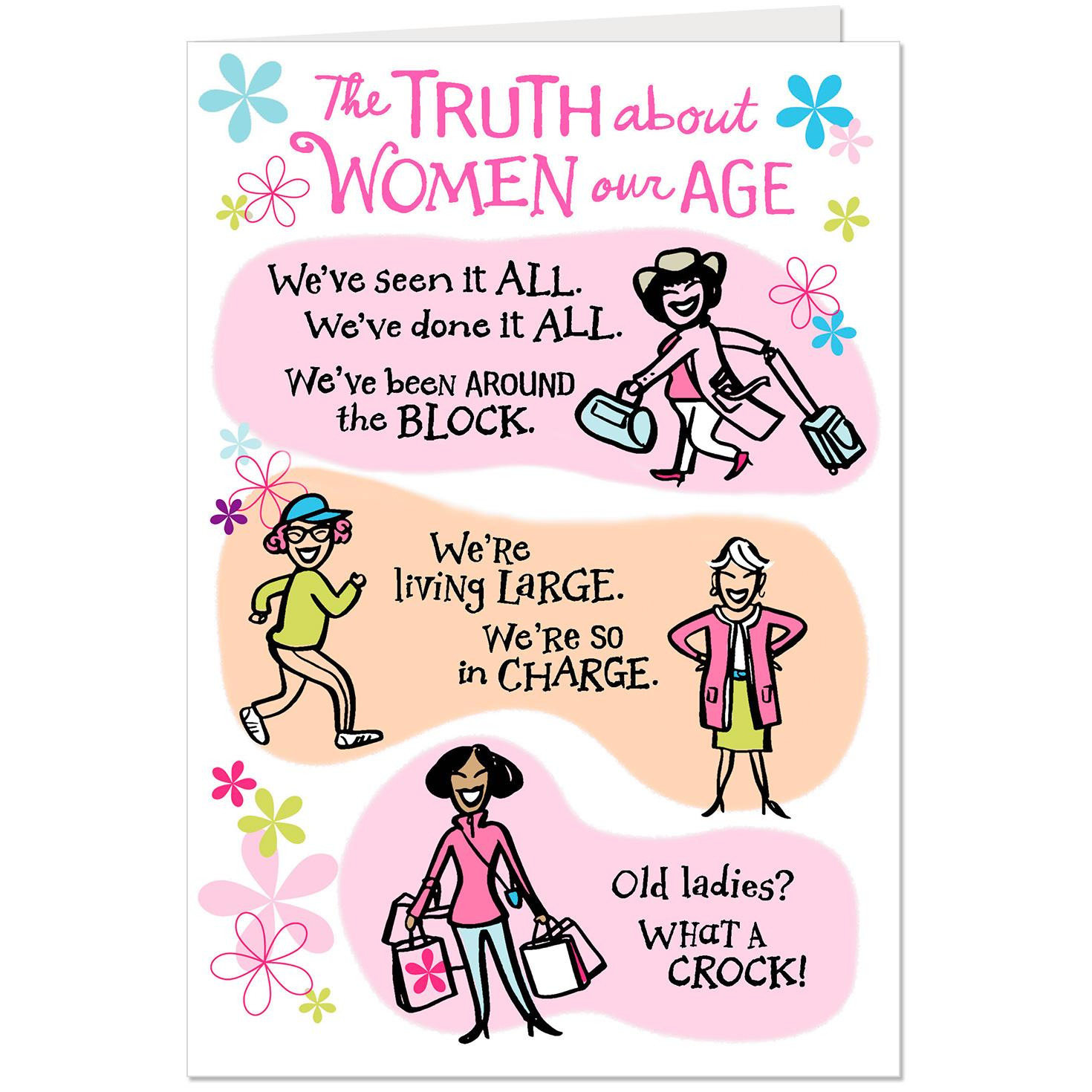 Women Our Age Funny Birthday Card For Friend
