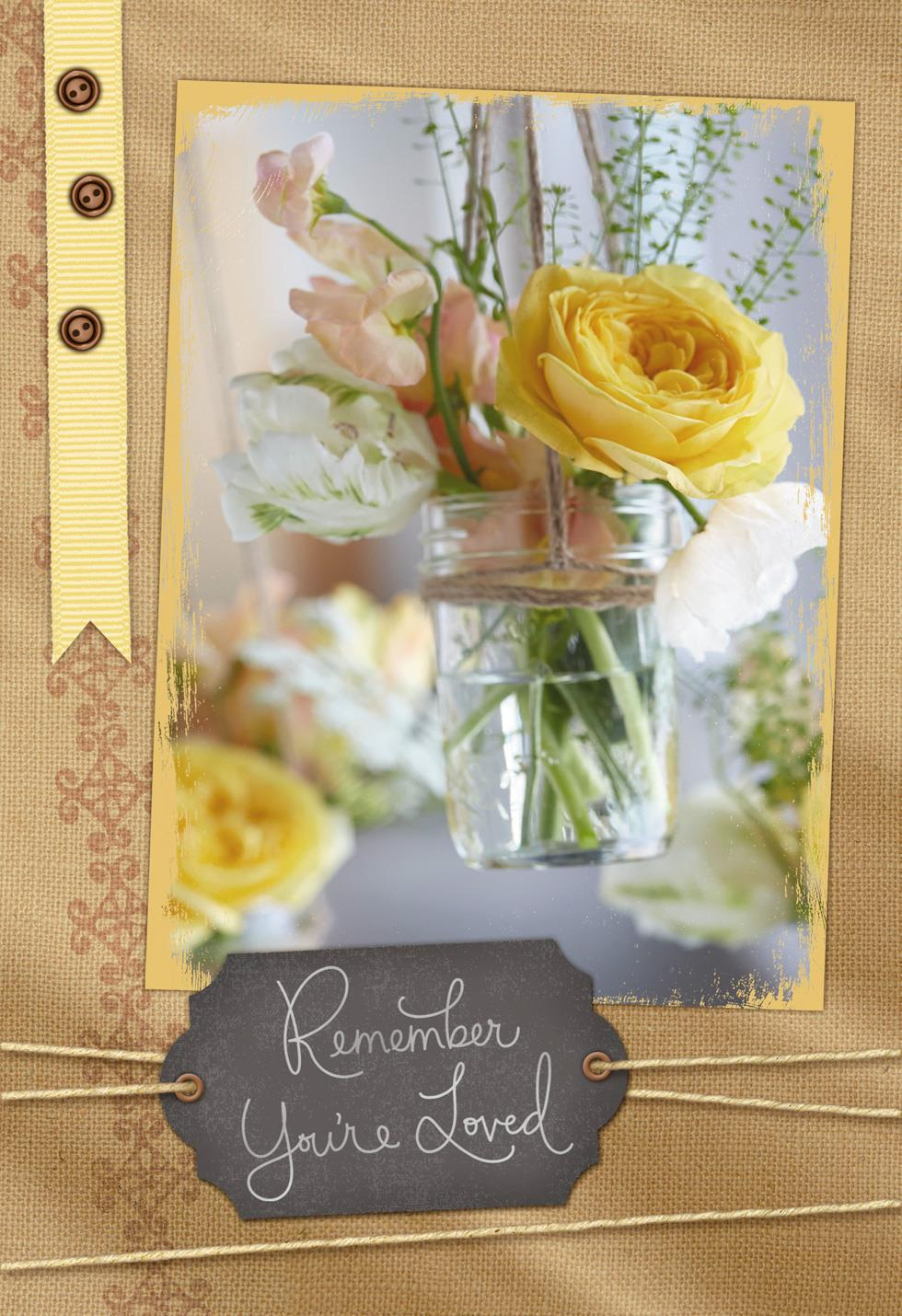 Flowers in a glass jar grandparents day card greeting Hallmark flowers