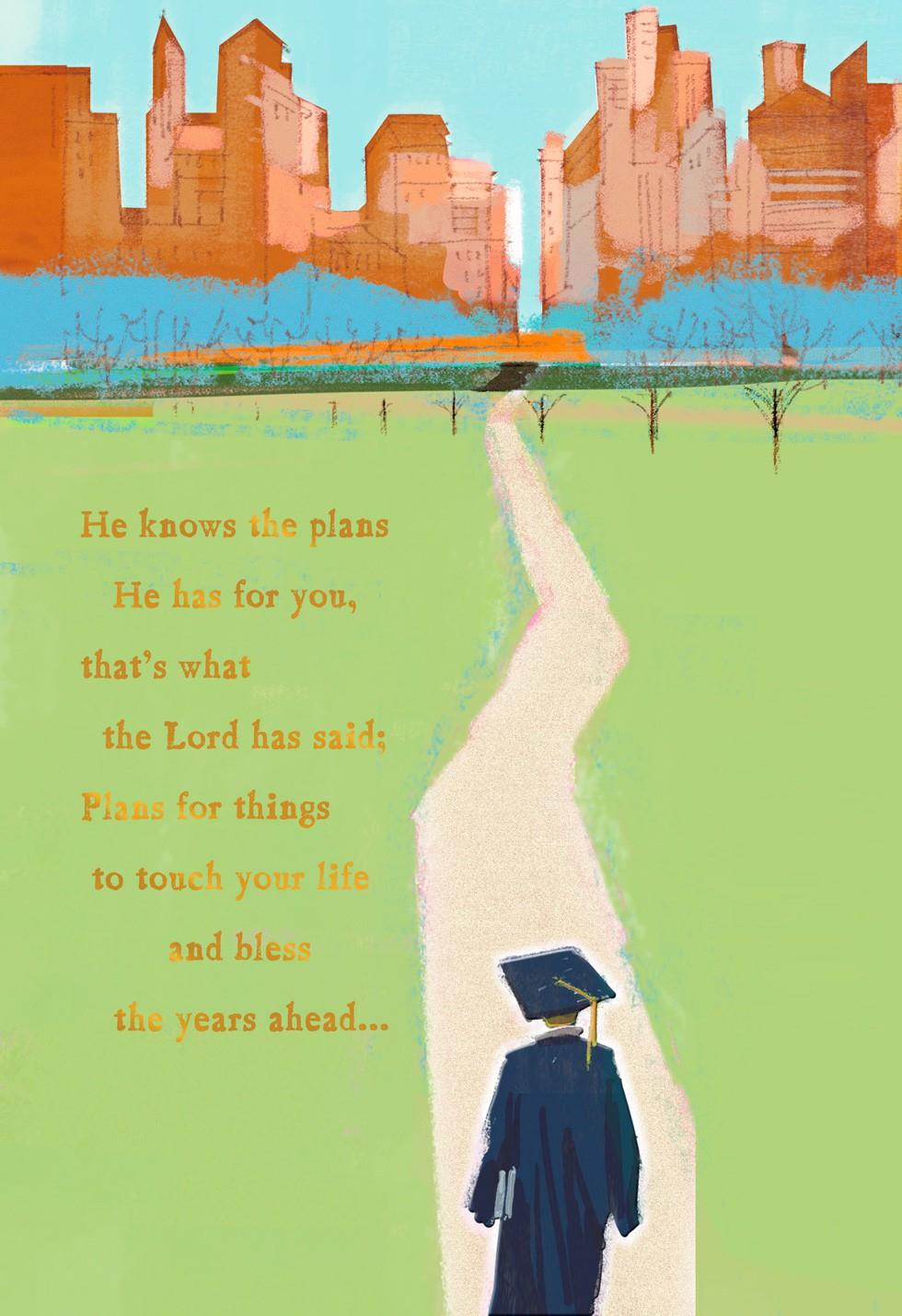 Path of success religious graduation card greeting cards hallmark added to your cart kristyandbryce Gallery