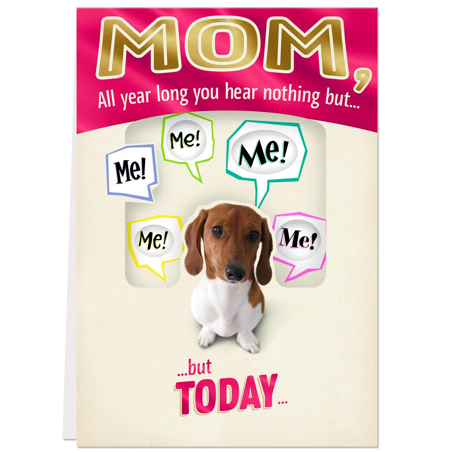 All About You Dog Funny Birthday Card For Mom Greeting Cards