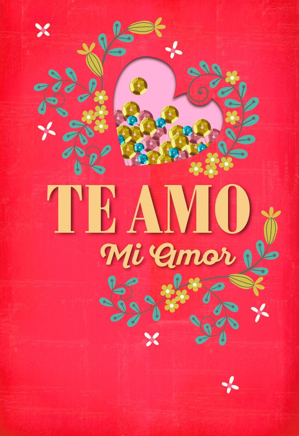 te amo  mi amor spanish-language love card