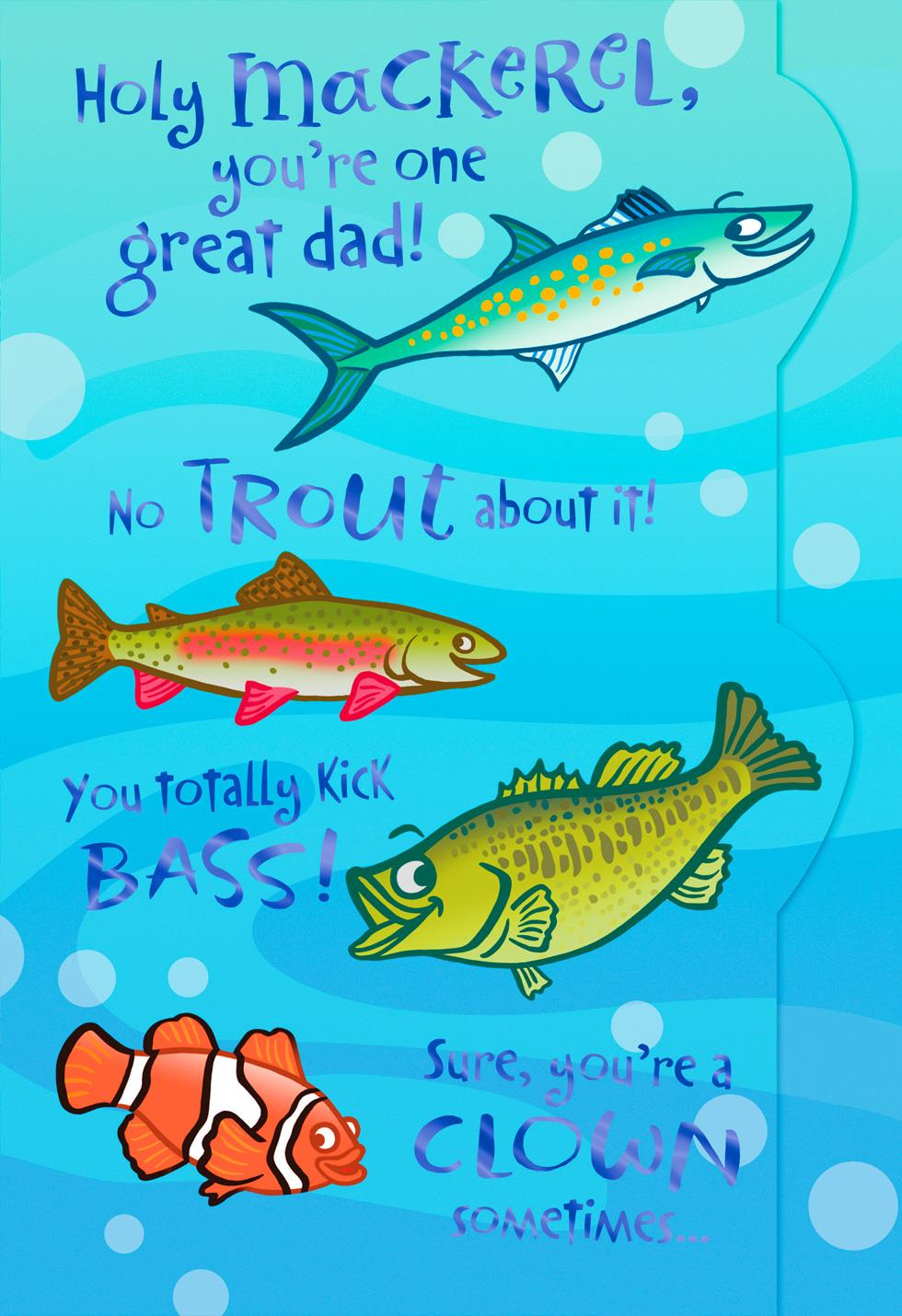 No fish story father 39 s day card greeting cards hallmark for Is today a good day to fish