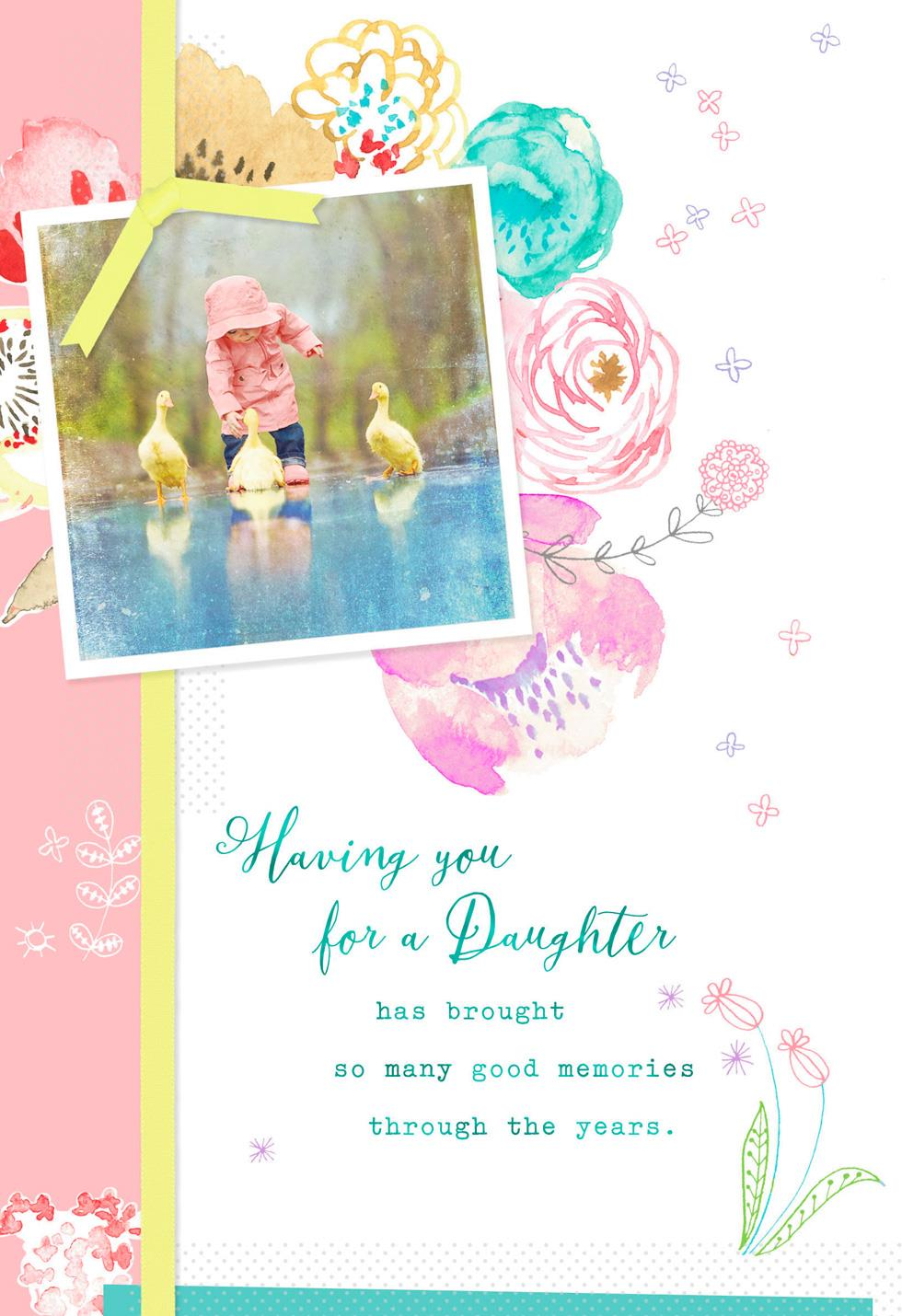 Good Memories Easter Card For Daughter Greeting Cards