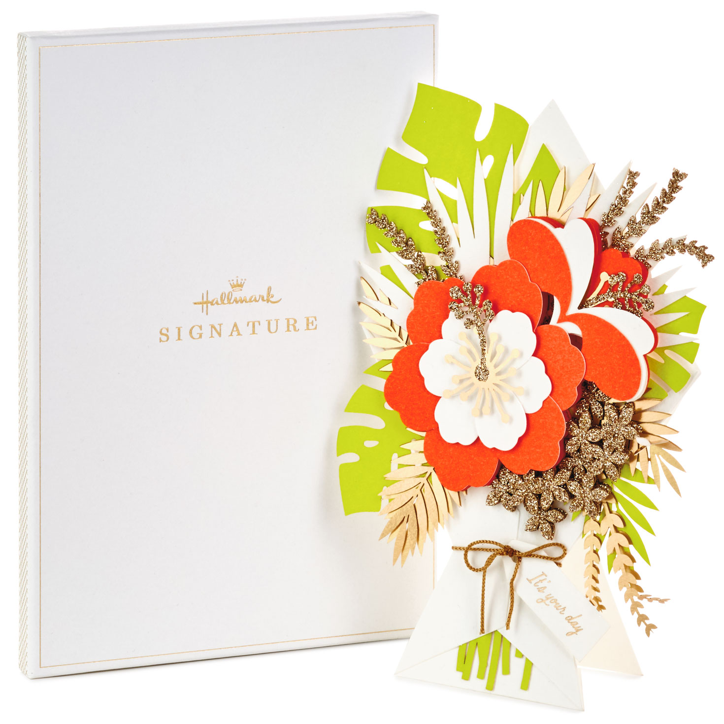 it's your day flower bouquet birthday card in gift box