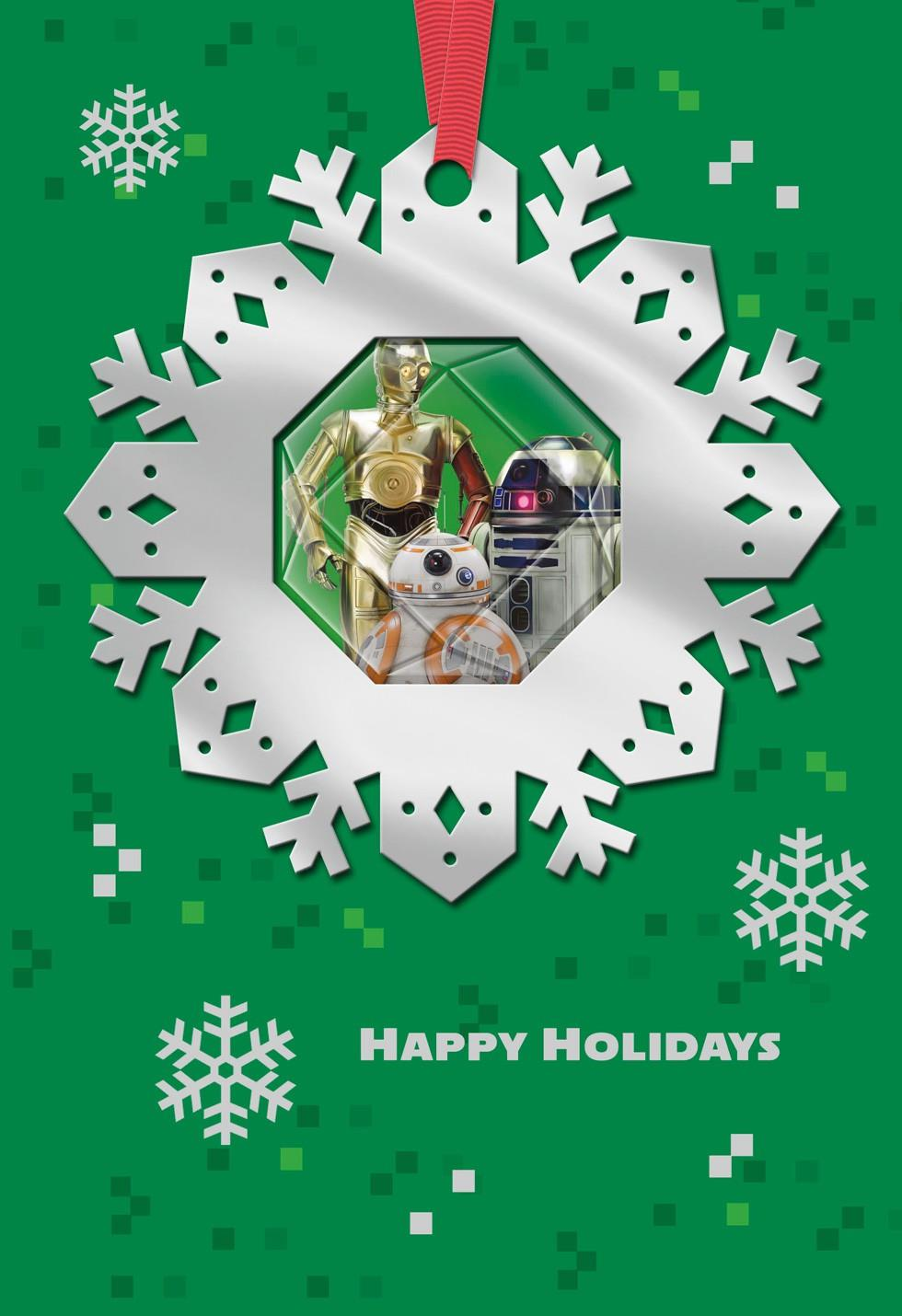 star wars u2122 droids christmas card with ornament