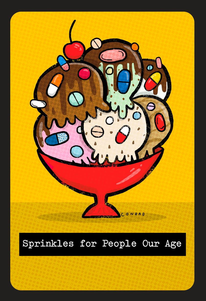 Old Age Ice Cream Sprinkles Funny Birthday Card Greeting Cards – Birthday Cards for Old People