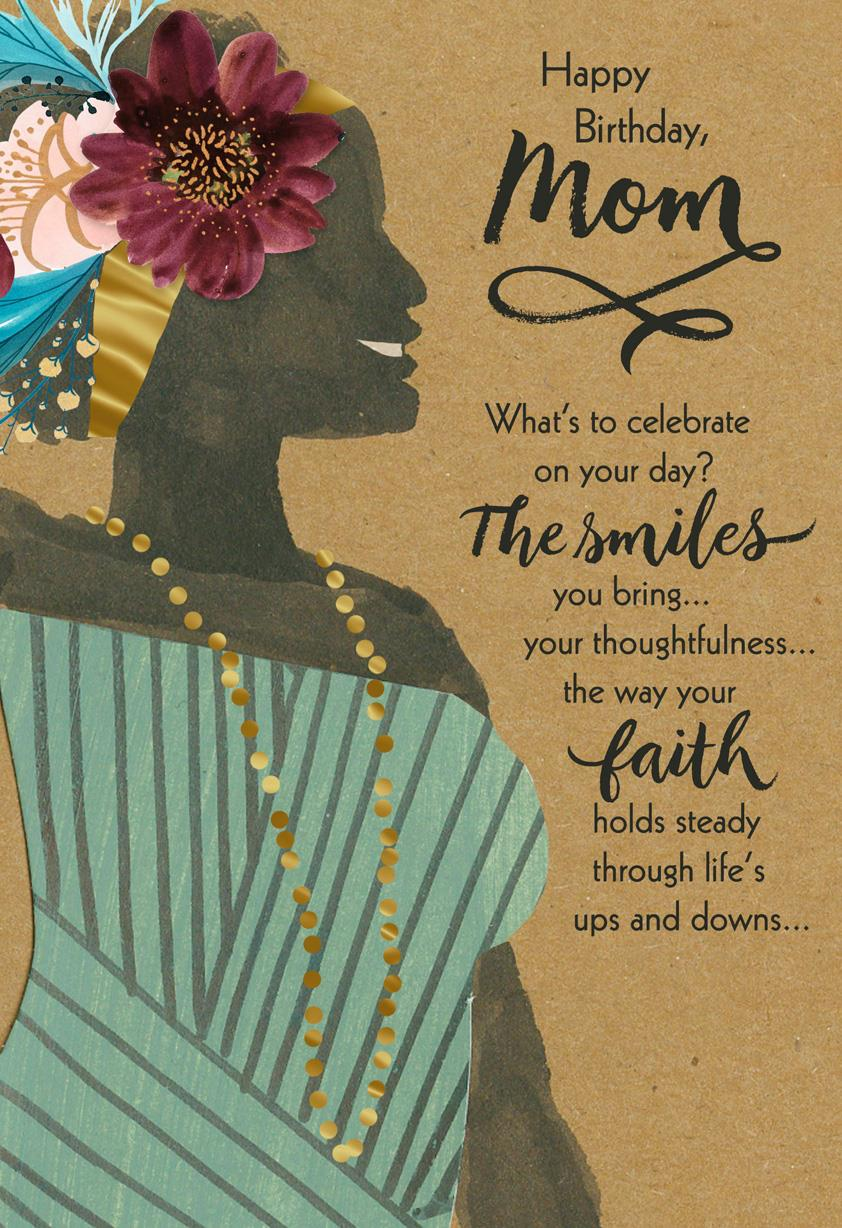 Youre a Blessing Religious Birthday Card for Mom Greeting Cards – Birthday Cards Religious