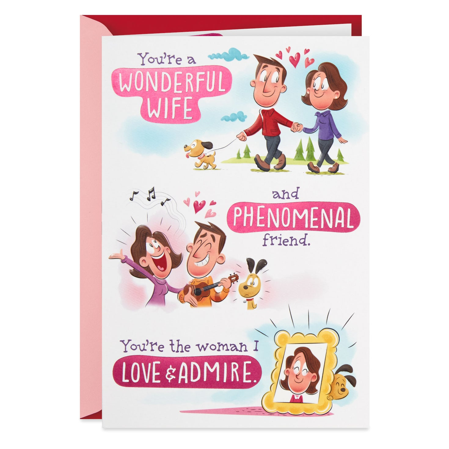 New Large Wife Pop Out Hallmark Valentine/'s Day Card /'Pop Up Novelty/'