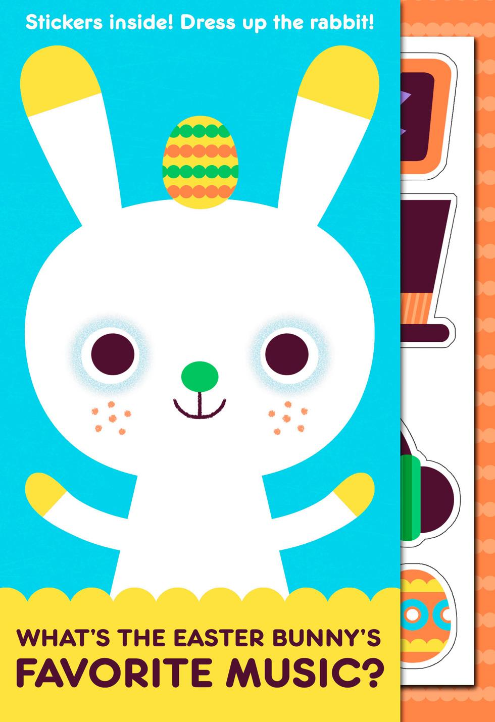 Easter cards hallmark hip hop bunny joke kids easter card with stickers m4hsunfo Image collections