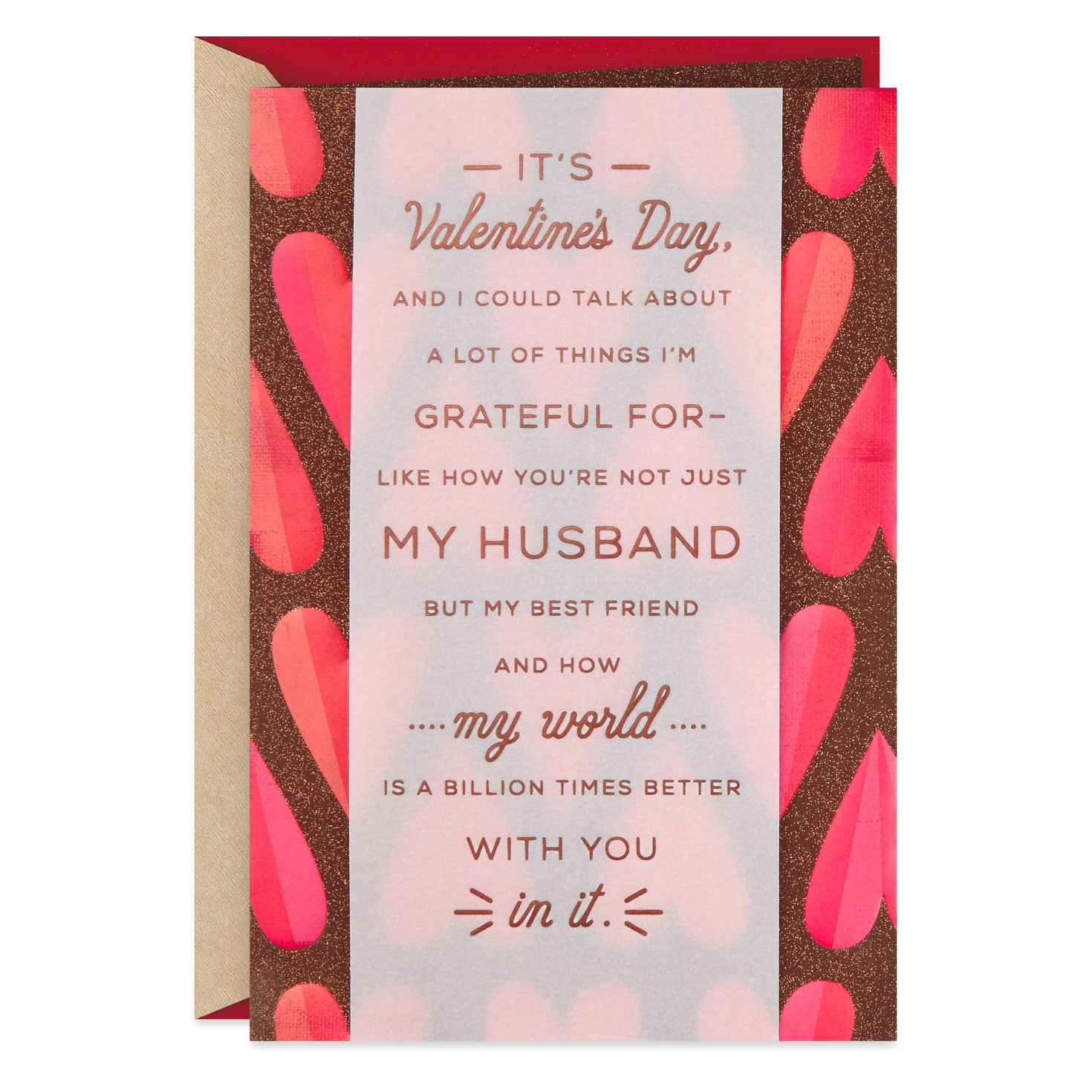 thanks for being hot valentine's day card for husband