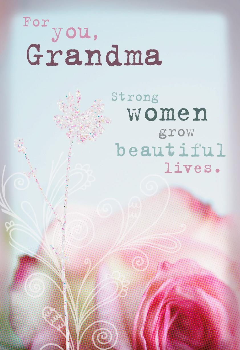 Strong And Beautiful Grandma Birthday Card Greeting