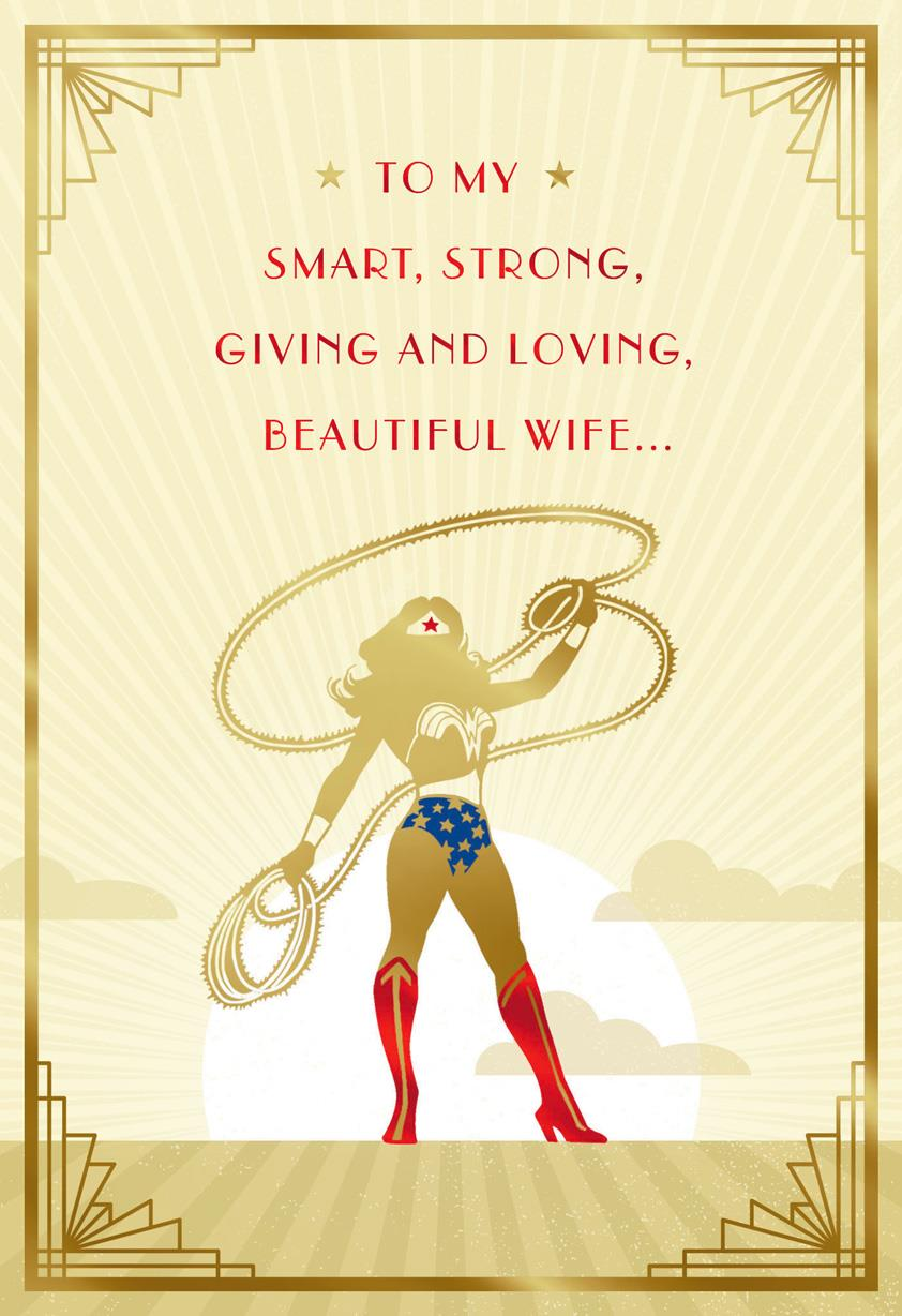 Graduation Gift Ideas >> DC Comics™ Wonder Woman™ You Save My World Birthday Card for Wife - Greeting Cards - Hallmark