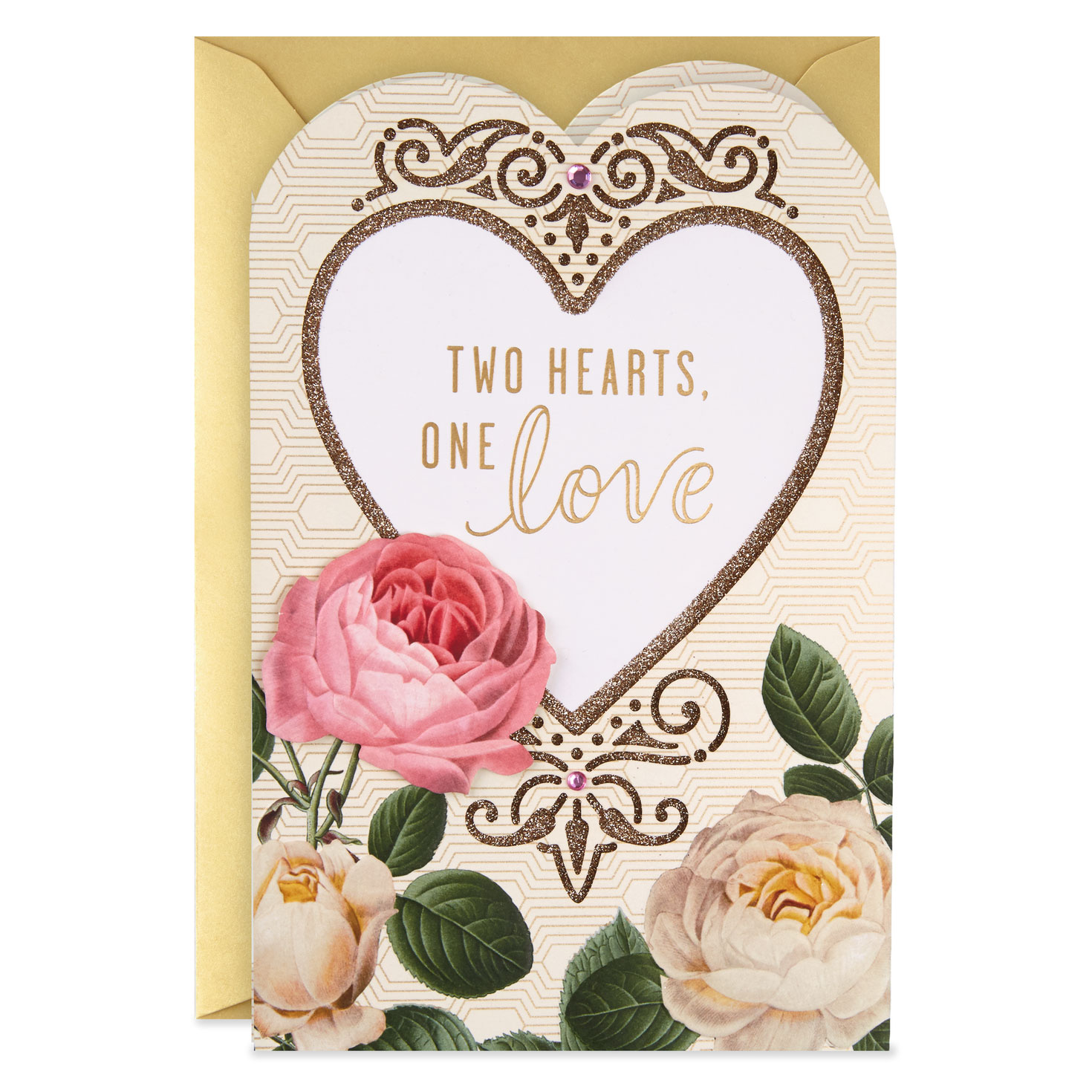 two hearts one love wedding card  greeting cards  hallmark