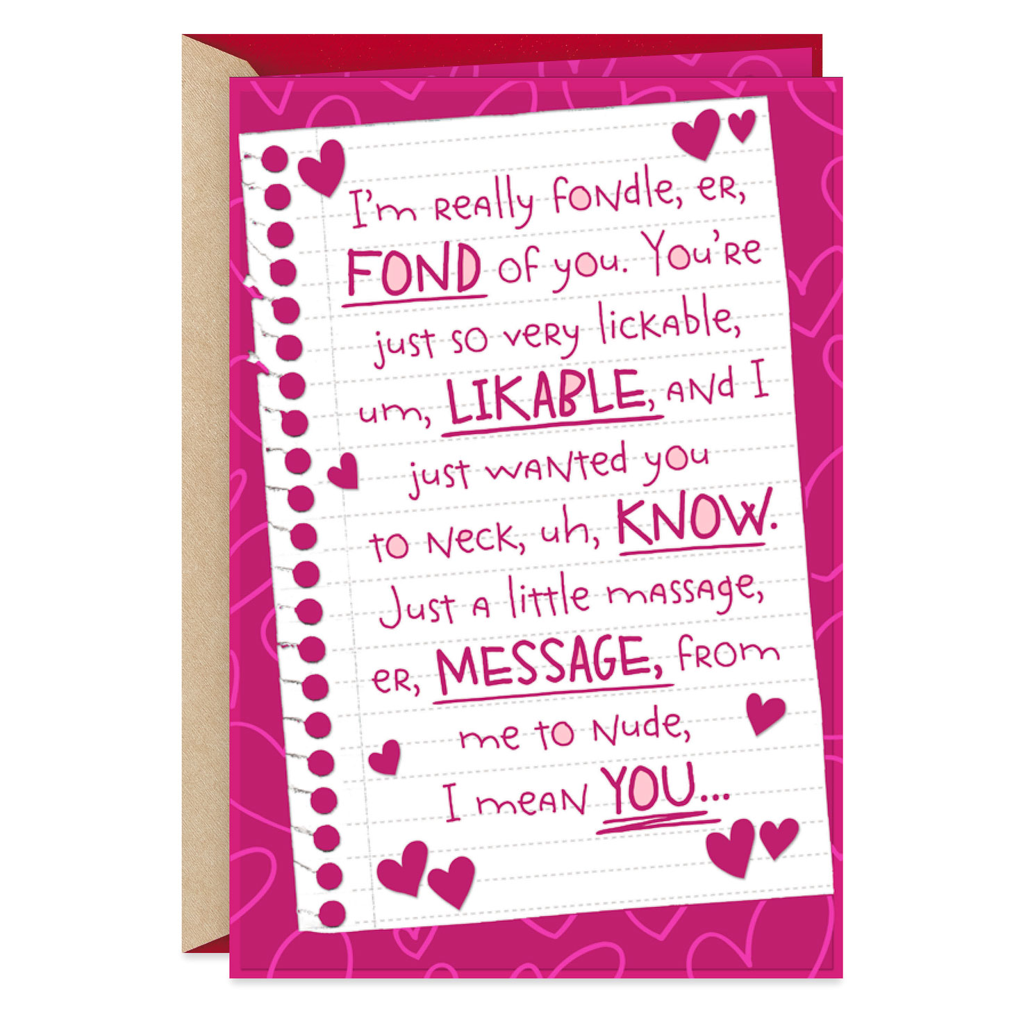 Rambling Romantic Love Letter Sweetest Day Card