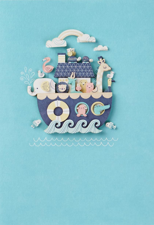 Noah S Ark Animals New Baby Card Greeting Cards Hallmark