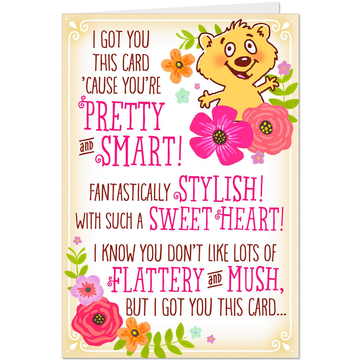 Mush To Make You Blush Funny Birthday Card