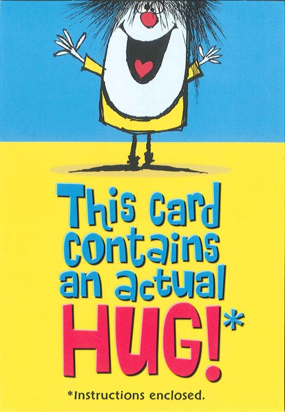 actual hug friendship card - greeting cards