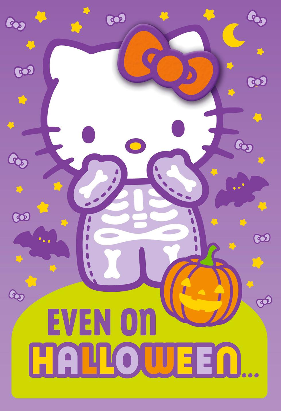 hello kitty u00ae cute is always in style halloween card with