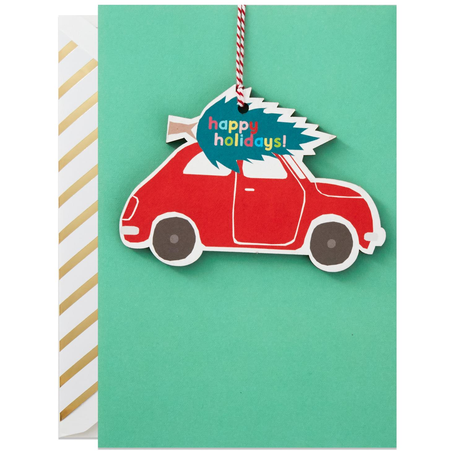All Kinds Of Happy Christmas Card With Removable Ornament