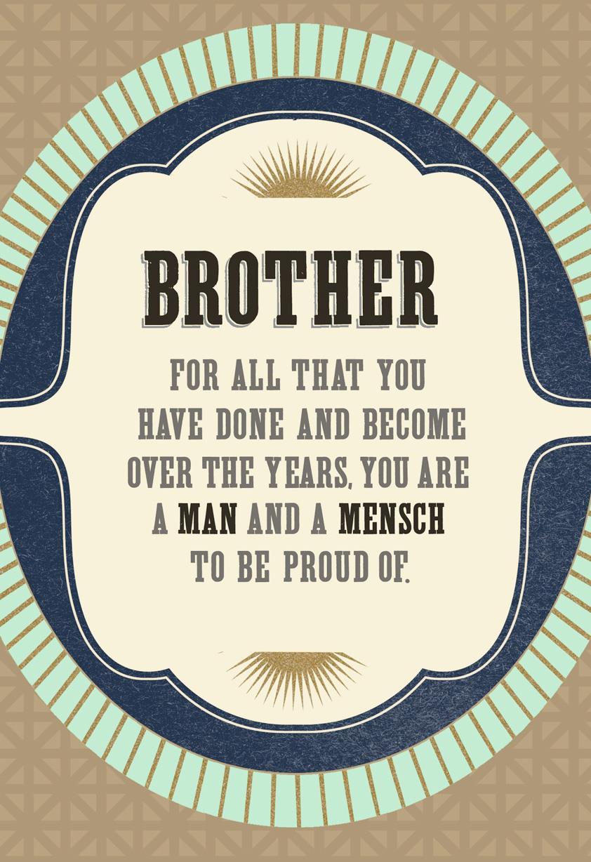 Rosh hashanah cards hallmark man and mensch rosh hashanah card for brother kristyandbryce Choice Image